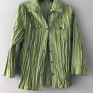 Notation green women's blouse size L.